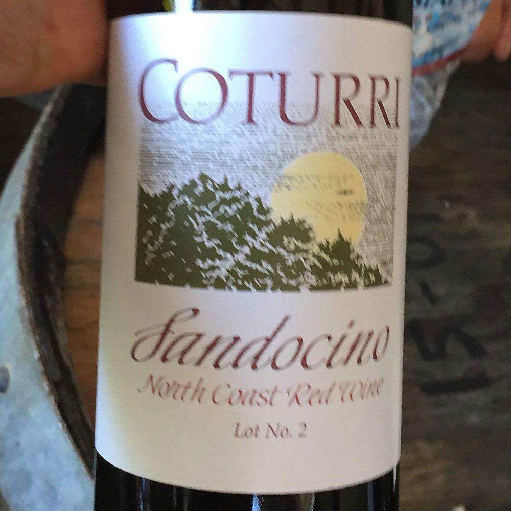 Wine Coturri Sandocino Red NV Lot No 2