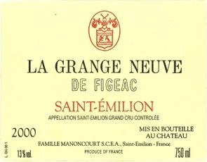 Wine La Grange Neuve de Figeac 2011