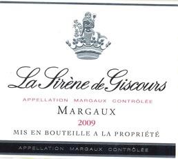 Wine Château Giscours, La Sirene de Giscours Margaux 2014