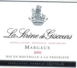 Wine Château Giscours, La Sirene de Giscours Margaux 2012