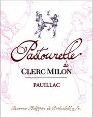 Wine Château Clerc Milon, Pastourelle de Clerc Milon Pauillac 2009