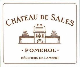 Wine Chateau de Sales Pomerol 2010
