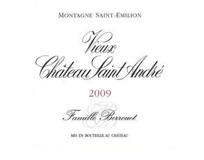 Wine Vieux Chateau Saint Andre Montagne-St-Emilion 2012