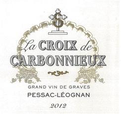 Wine Château Carbonnieux, La Croix de Carbonnieux Rouge 2014