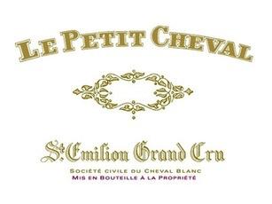 Wine Château Cheval Blanc, Le Petit Cheval Saint-Émilion 2012