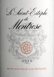 Wine Saint Estephe De Montrose 2010