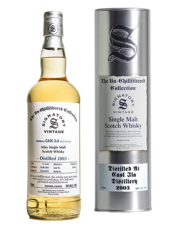 Spirits Unchillfiltered Signatory Caol Ila Single Malt Whisky 2003 11 Years Hogshead