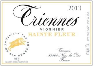 Wine Triennes Vin de Pays du Var Viognier Sainte Fleur 2016