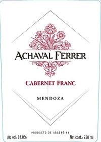 Wine Achaval Ferrer Cabernet Franc Mendoza 2015