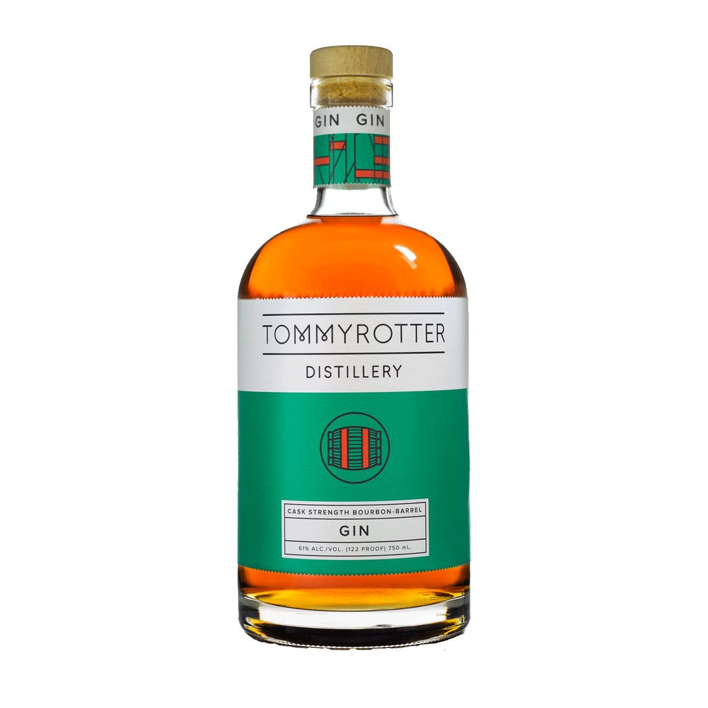 Spirits Tommyrotter Distillery Cask Strength Bourbon Barrel Gin 122 Proof