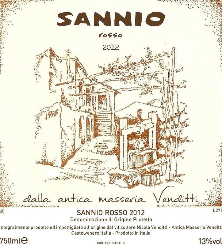 Wine Antica Masseria Venditti Rosso 'Sannio' 2014