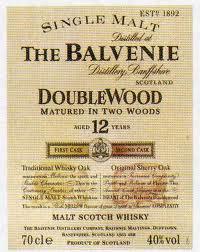 Spirits Balvenie 12 Year Doublewood Speyside Scotch