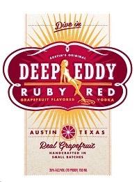 Spirits Deep Eddy Vodka Ruby Red 1L
