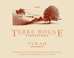 Wine Terre Rouge Syrah 'DTR Ranch' 2008