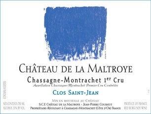 Wine Chateau de la Maltroye Chassagne Montrachet Rouge 1er Cru Clos Saint Jean 2013
