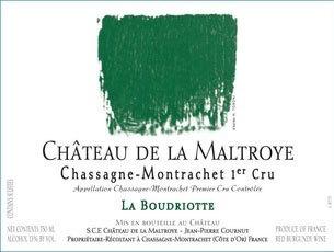 Wine Chateau de la Maltroye Chassagne Montrachet Rouge 1er Cru La Boudriotte 2013
