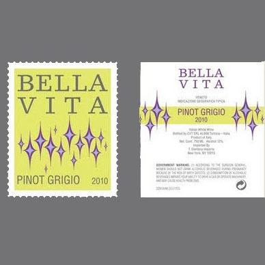 Wine Bella Vita Pinot Grigio 2017
