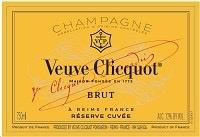 Sparkling Veuve Clicquot Reserve Cuvee Brut Champagne