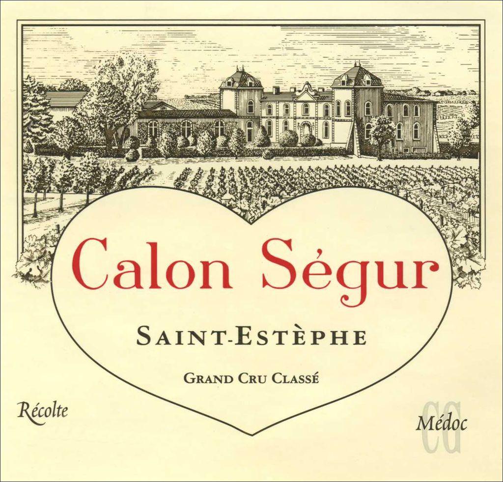 Wine Chateau Calon Segur Saint Estephe 1998 1.5L