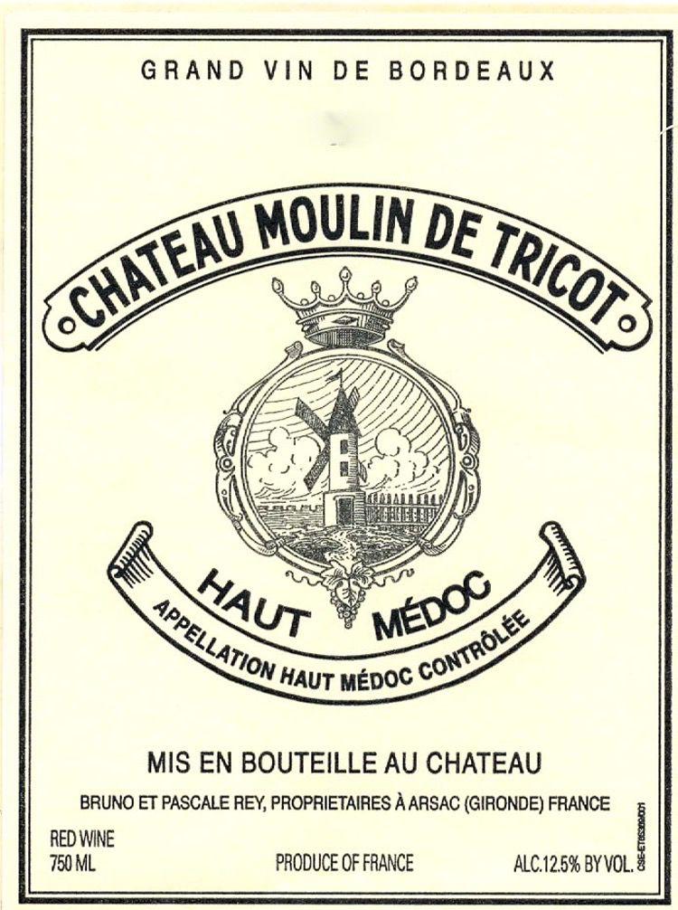 Wine Chateau Moulin de Tricot Haut Medoc 2015