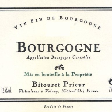 Wine Bitouzet Prieur Bourgogne Rouge 2015