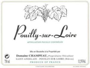 Wine Champeau Pouilly-sur-Loire 2016