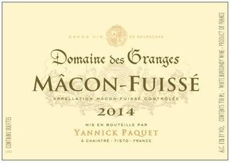 Wine Domaine des Granges Macon Fuisse 2016