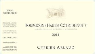 Wine Domaine Arlaud Bourgogne Hautes Cotes de Nuits Cyprien Arlaud 2015