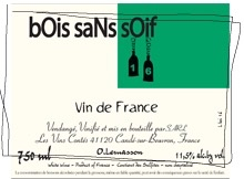Wine Les Vins Contés 'Bois Sans Soif' Blanc 2016