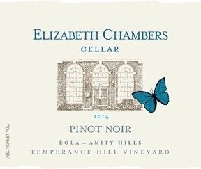 Wine Elizabeth Chambers Pinot Noir Eola Amity Hills Temperance Hill VIneyard 2014
