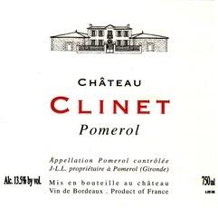 Wine Chateau Clinet Pomerol 2012