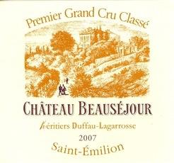Wine Ch. Beausejour Duffau 2011