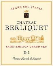 Wine Ch. Berliquet 2012