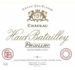 Wine Chateau Haut Batailley Pauillac 2011