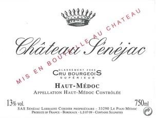 Wine Ch. Senejac 2013