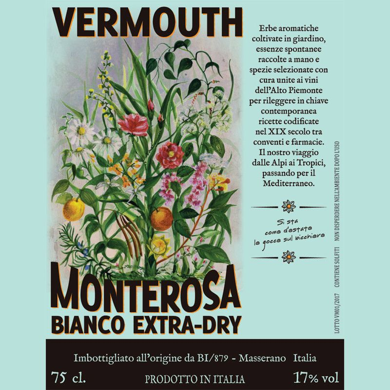 Spirits Monterosa Vermouth Bianco Extra Dry