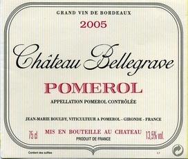 Wine Ch. Bellegrave Pomerol 2012