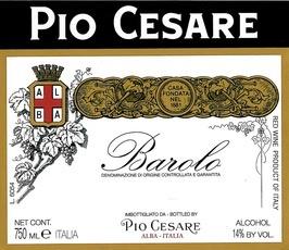 Wine Pio Cesare Barolo 2013