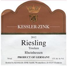 Wine Kessler-Zink Riesling Trocken Dry 2017
