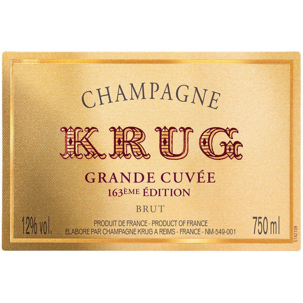 Sparkling Krug Champagne Brut Grande Cuvee 163rd Edition