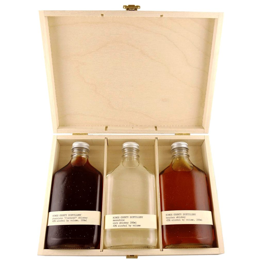 Spirits Kings County Aged Gift Set WOOD BOX 200ml