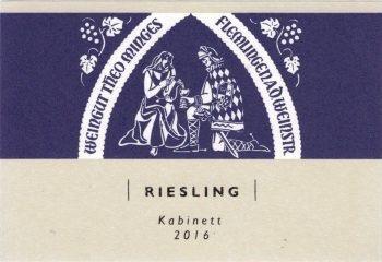 Wine Weingut Theo Minges, Riesling Kabinett 2016