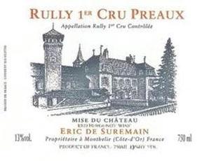 Wine Domaine Eric de Suremain Rully Premier Cru Preaux 2015