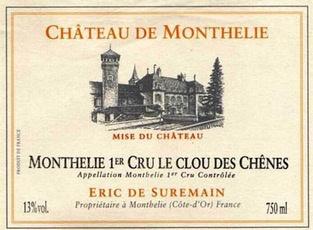 Wine Domaine Eric de Suremain Monthelie Premier Cru Le Clou des Chenes 2015