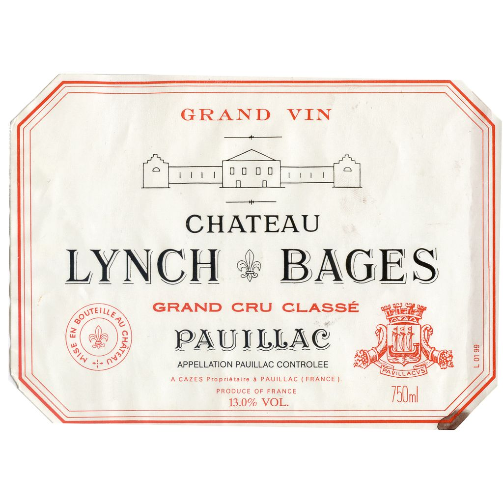 Wine Ch. Lynch Bages 1985