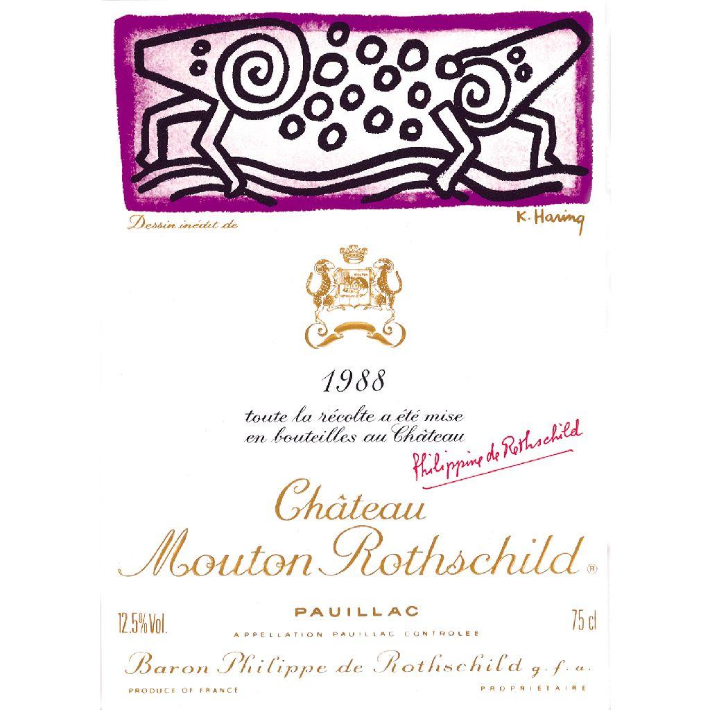 Wine Chateau Mouton Rothschild 1988