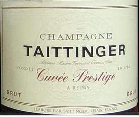 Wine Champagne Taittinger, Champagne Brut Cuvée Prestige (NV)