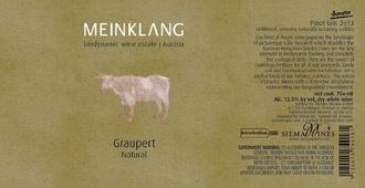 Wine Meinklang Pinot Gris Graupert 2015