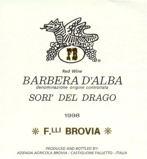 Wine Brovia Barbera d'Alba Sori del Drago 2016
