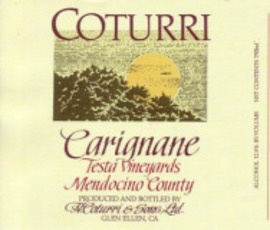 Wine Coturri Carignane 'Testa Vineyards' 2016